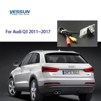 Cámara de visión trasera Yessun para Audi Q3 2011 ~ 2017 4 LED de visión nocturna cámara HD de 170 grados