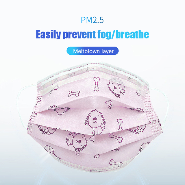 50pcs/100pcs Disposable Masks For Children Aged 4-12 Child Face Mouth Mask Kid Non-woven 4-layers Breathablthe Face Mask 1