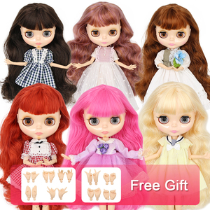 Image 1 - ICY factory Blyth doll Joint body with hands Glossy face with big breast different hair color Natural skin 30cm 1/6 toy gift