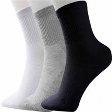 Men's Socks Breathable Cotton Mid Socks 2Pairs/5 Pairs Black