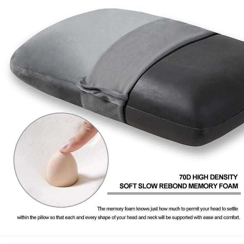 المحمولة الذاكرة وسادة سفر فوم وسادة نوم الخلفي وسادة مع القابلة للإزالة وقابل للغسل غطاء ل الظهر ، Airplan و