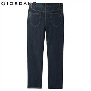 Image 3 - Giordano Men Jeans Denim Jeans Elastic Mid Rise Narrow Feet Quality Cotton Denim Jeans Pantalones Whiskering Denim Clothing