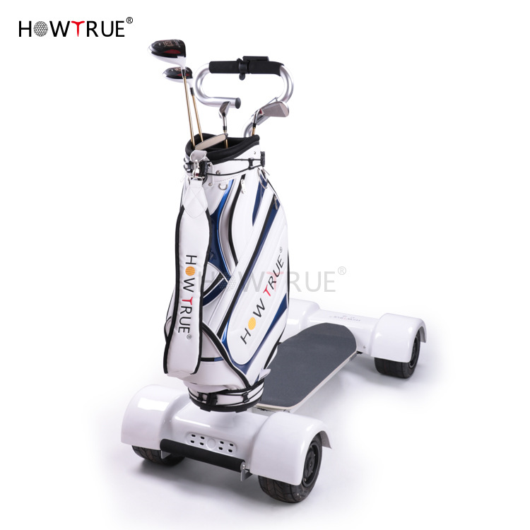 Electric Golf Ball Charter Carriage Wheel Balance 3 Car Shake Driver Trailer Charging Golf Hand Golf Trolley/Cart Golfwagen