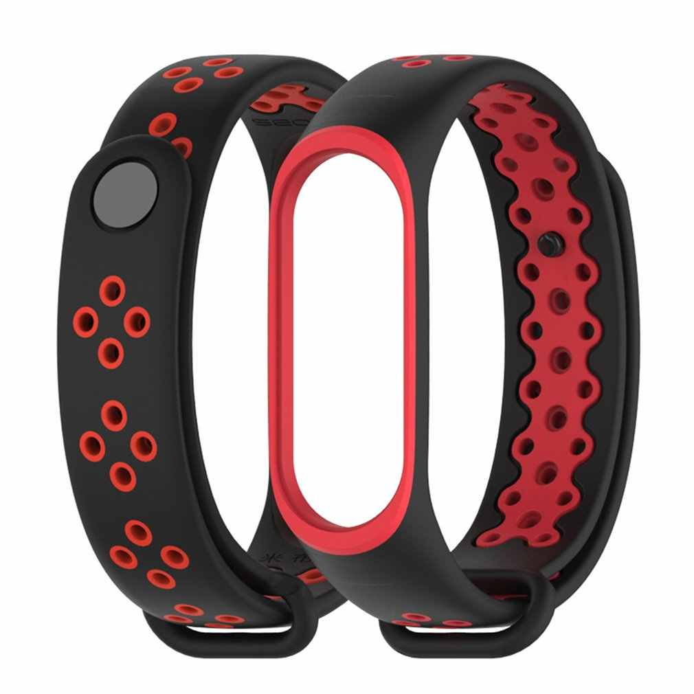 For Xiaomi Mi Band 3/4 Replacement Sport Silicone Strap Wristband Bracelet Fashion Two-Tone Replacement Strap