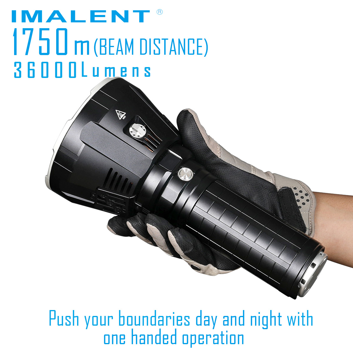 Flashlight IMALENT Battery-Pack Cooling-System 36000lm-Beam Built-In R90TS XHP35 1750-Meter