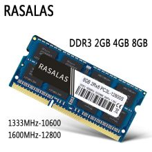 Memória Ram Rasalas DDR3 8GB 4GB 8500 10600 12800 204Pin SO-DIMM 1.35V 1.5 V Notebook Laptop Oперативная Nамять