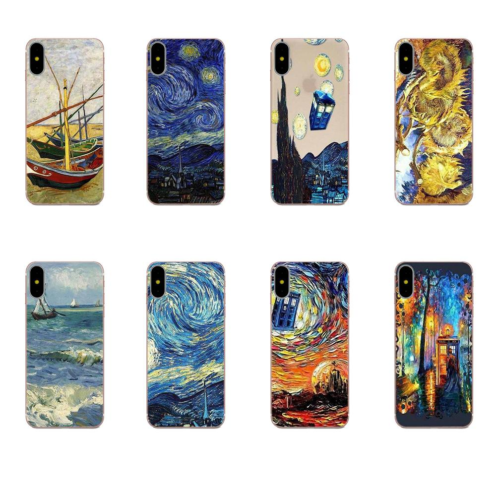 Tpu Soft Shell <font><b>Phone</b></font> <font><b>Case</b></font> Van Gogh Art For <font><b>Samsung</b></font> Galaxy A10 A20 A20E A3 A40 <font><b>A5</b></font> A50 A7 J1 J3 J4 J5 J6 J7 <font><b>2016</b></font> 2017 2018 image