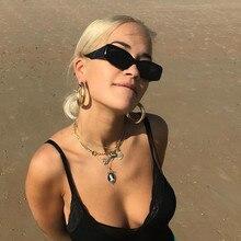 Rectangle Sunglasses Square Retro Vintage Men Women Small Travel Brand Oculos Lunette-De-Soleil