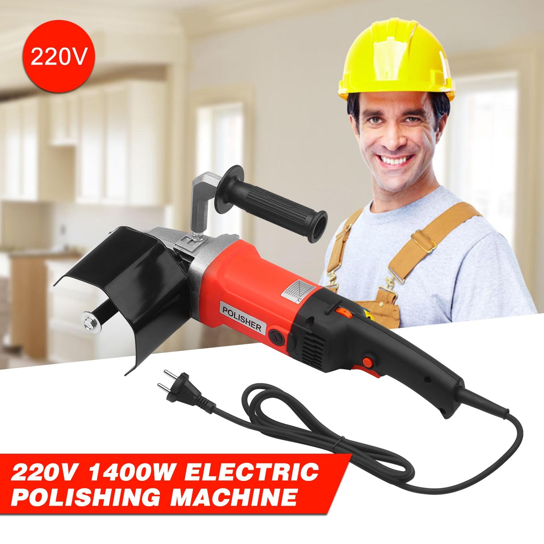 Polisseuse électrique 220V, 1400W, Machine à polir, à trépieds électriques, pour le polissage du métal, de lacier inoxydable et du bois