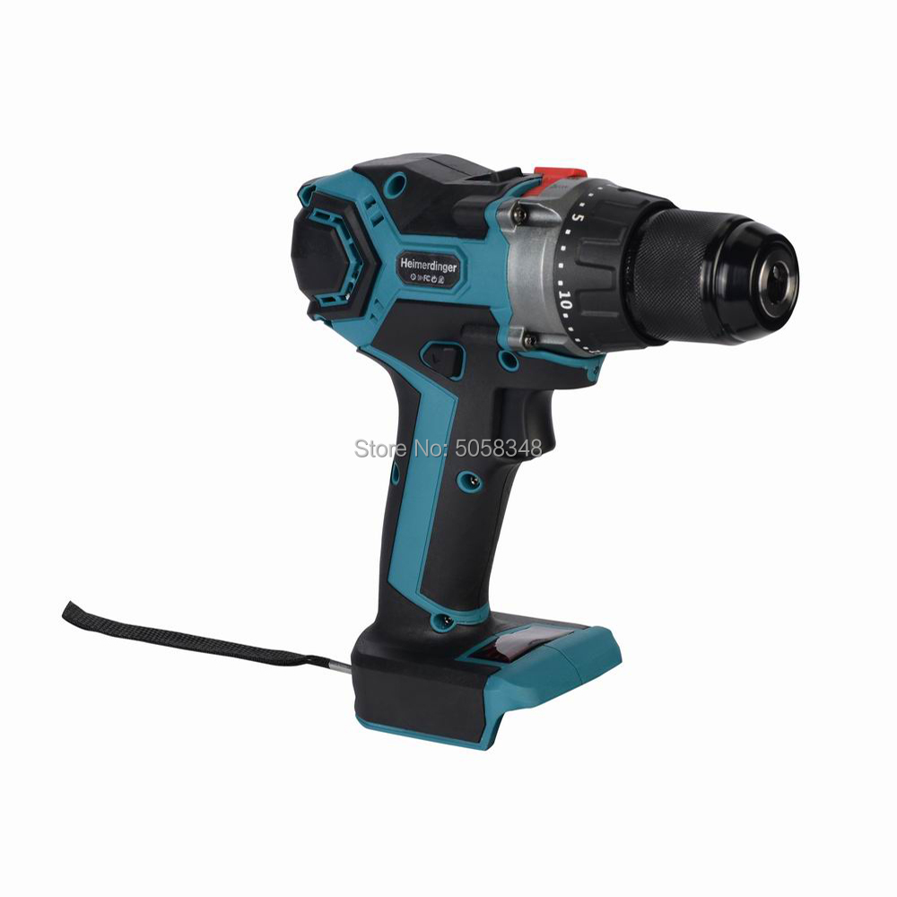 18V Cordless Brushless Impact Drill Hammer Drill Screw Driver Torque Drill Without Battery