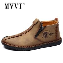Plus Size Men Winter boots Split Leather Boots Men Snow Boots Super Comfort Winter Shoes
