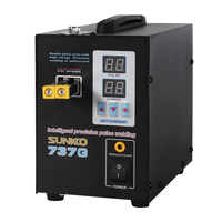 S737G battery spot welder precision pulse spot welder led light welding machine used 18650 battery pack spot welders