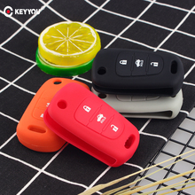 KEYYOU силиконовый чехол для ключей с 3 кнопками для Kia K2 K5 Pro Ceed HYUNDAI i20 i30 i40 SANTA