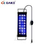 26CM White Blue Ultra thin Aluminum Alloy Fish Tank Clip Light Aquarium LED Lamp With Bracket