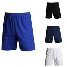 Спортивные футбольные шорты для фитнеса, мужские однотонные Повседневные Шорты Для спортзала, футбола, бега, дышащие спортивные мужские шо...