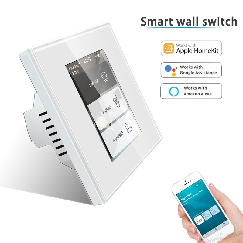 2020 Latest 4 models in one LCD WIFI Smart wall Switch work with app homekit ,alexa,googlehome for smart switch smart home|Switches| - AliExpress