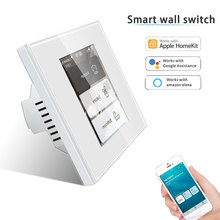 Wall-Switch Work Alexa Homekit Wifi Smart Googlehome with App for LCD 5-Model In-One