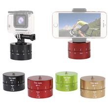 360 degree Rotation Automatic Timer Photography Delay Tilt Head Go pro Accessories 60min Time Lapse for Pro 7 6 5 4 3 2 1