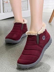 Women Shoes Snow-Boots Furry Fur Female Winter Slip-On Plus-Size Warm NEW Unisex Flat