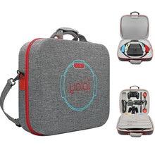 Estojo portátil para nintendo switch, bolsa de armazenamento multifuncional com base em anel fitness e eva, saco transversal