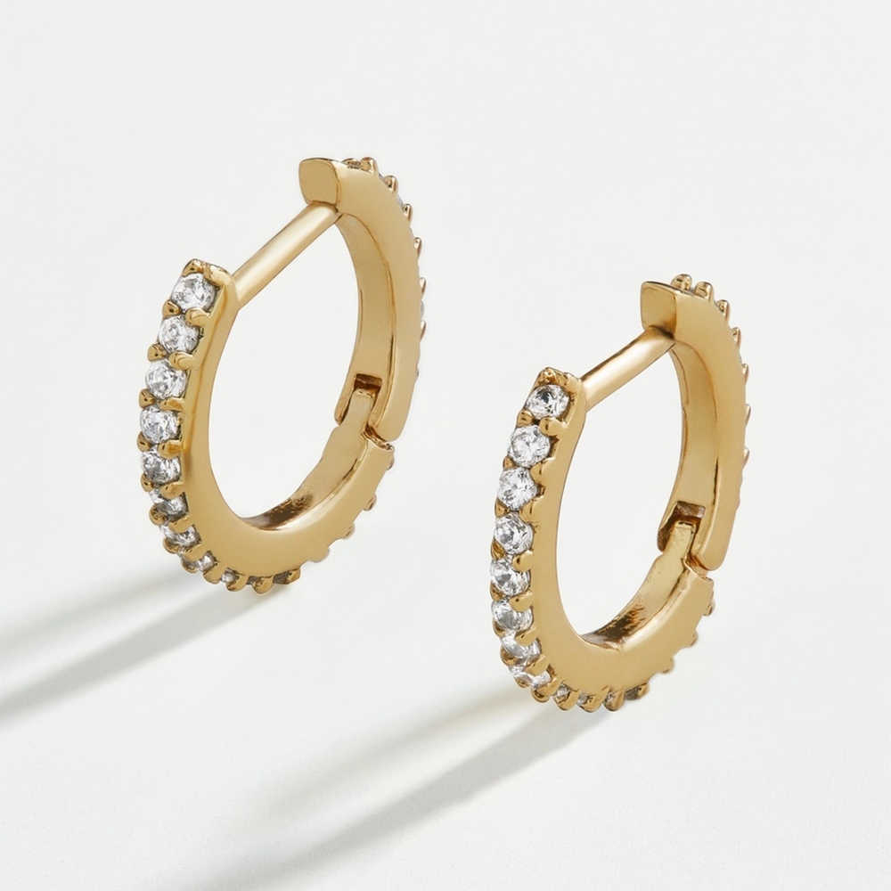 Classic Thin Circle Stackable Cartilage hoop Earring female CZ female Ear Cuff small Huggies Hoops Jewelry Gifts