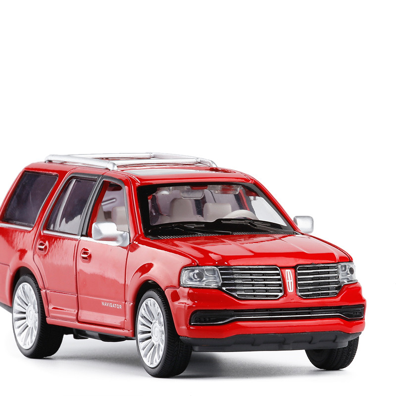 Sale 1:36 Lincoln Navigator Alloy Model,simulation Die-cast Sound And Light Pull Back Model,children's Toy Gift,free Shipping