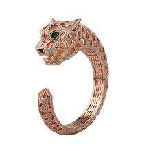 Zircon BRACELET COPPER Dubai Leopard Fashion Luxury Gift B1312 Dance High-Quality
