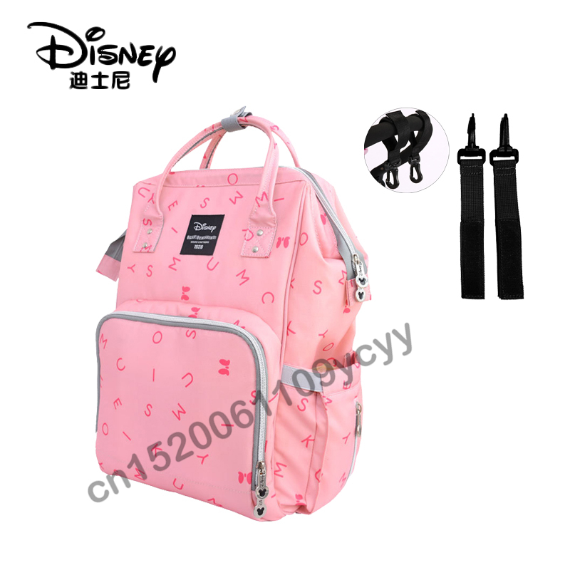 Disney Mummy diaper bags  Bottle Insulation backpack Nappy Stroller Bag for baby born fashion Mommy Daddy shoulder bags DPB19
