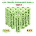 14 шт., перезаряжаемые батарейки AAA, 1,2 в, 750 мАч, Ni-MH, батарейки хорошего качества, 1,2 в, NIMH 3A, батарейки для пульта дистанционного управления