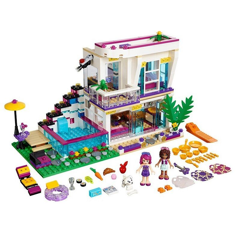 Bela <font><b>10498</b></font> Princess Series Livi's Pop Star House Building Blocks Andrea Figures Toy Compatible with Blocks Bricks image