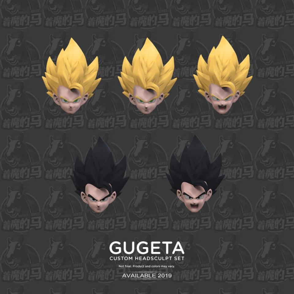En stock Demoniacal Ajustement Dragon Ball Super Kamehameha SHF Personnalisé Headsculpt Ensemble pour SHF Gogeta DBZ SSJ Gogeta PVC Figurine Jouets