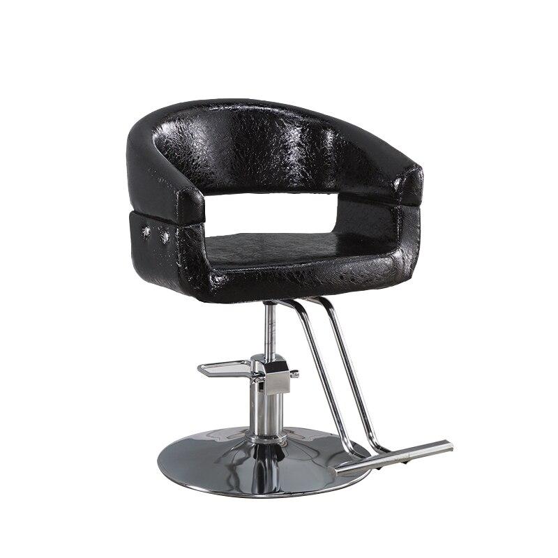 Barber Chair Hair Salon Rotary Adjustment Chair Hairdressing Chair Cadeira De Barbeiro Barberia Sillon Peluqueria Metal Cheap