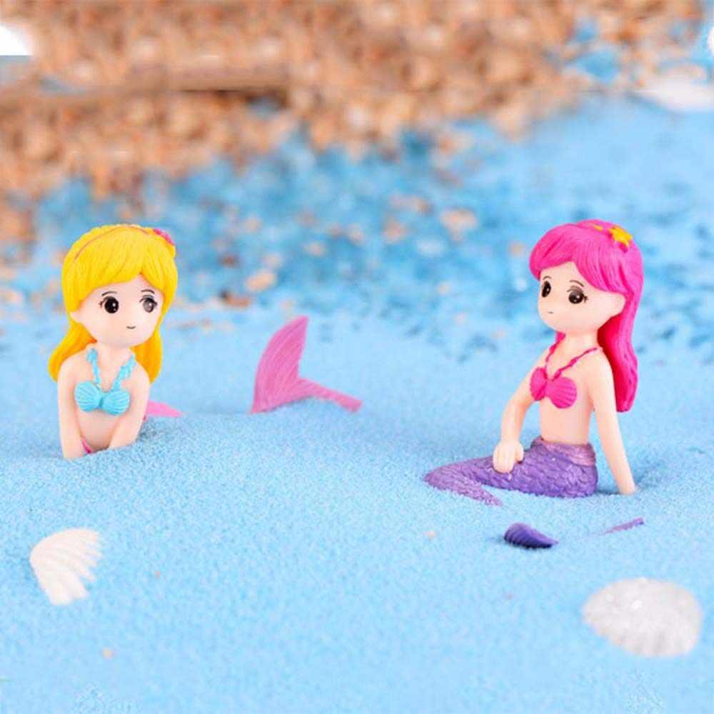 Miniaturas de jardín en forma de seta de sirena, figuritas de duendes terrarios con musgo Home, decoraciones de Acuario, Accesorios para tanque de peces
