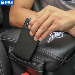 Image 4 - MOPAI Stowing Tidying for Jeep Wrangler JL 2018+ Leather Car Armrest Storage Box Pad Cover Accessories for Jeep Wrangler JL 2019