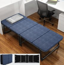 Pausa de almoço dobrável folha de cama simples escritório pausa de almoço casa portátil nap duplo acompanhar cama dobrável