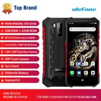Ulefone Armor X5 ip68 прочный смартфон Android 9,0 ударопрочный телефон Superbattery сотовый телефон 3 + 32G разблокированный мобильный телефон