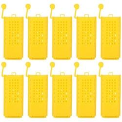 50 sztuk pszczelarstwo chów puchar zestaw plastikowe Bee królowa klatki rolki transportu Catcher Insectary Box sprzęt pszczelarski narzędzie w Przybory pszczelarskie od Dom i ogród na