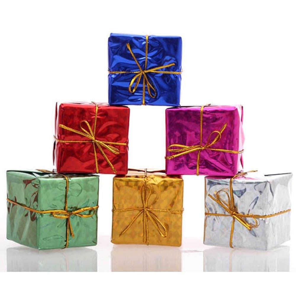 12Pcs Nette Liebe Glocke Weihnachten Baum Ornament Dekoration Holz Schneemann Elch Hängen Anhänger Weihnachten geschenk tasche Dekorationen A30816