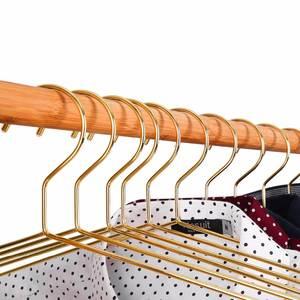 Hanger Wire-Coat Golden Link Metal 45CM Strong 10pcs Standard-Suit Essential Housewife