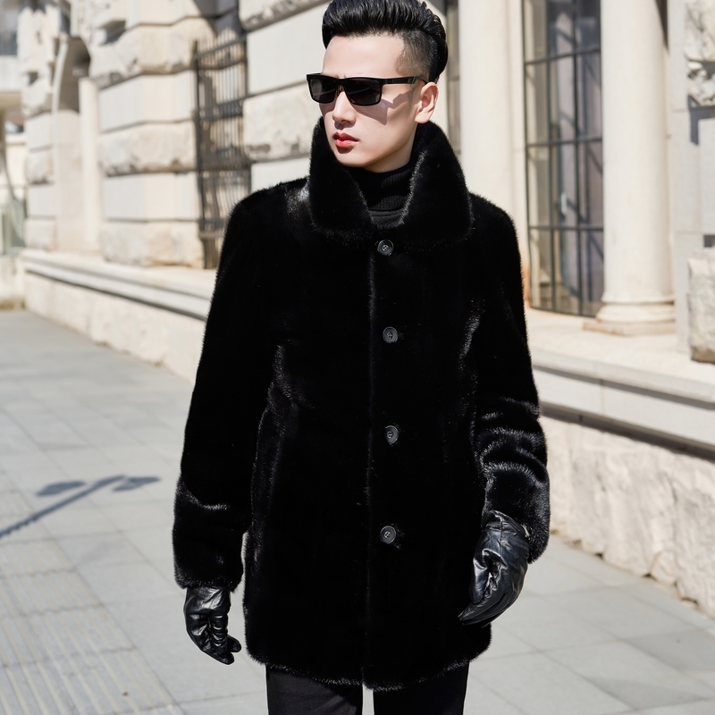 2020 Real Fur Coat Natural Mink Fur Coat Winter Jacket Men Clothes Mens Real Shearling Warm Outwear Veste Homme N-2 YY706