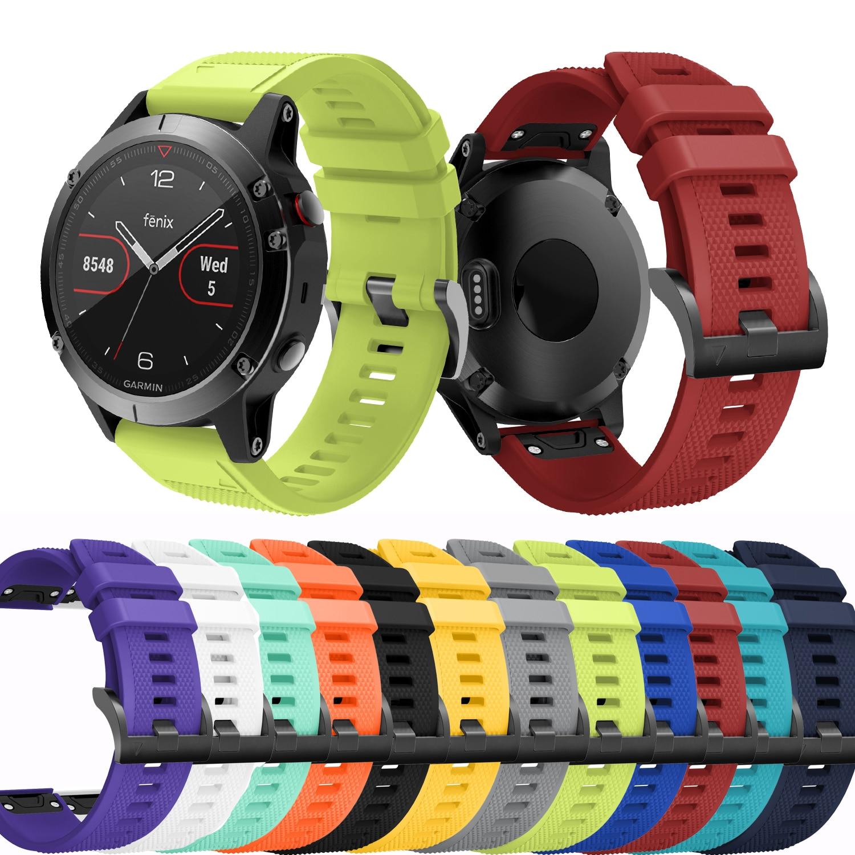 22 мм модный стиль ремешок для наручных gps-часов Garmin Fenix 5x, часы силиконовый браслет на запястье для наручных gps-часов Garmin Fenix 5x, плюс ремешок дл...
