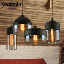 Modern Glass Pendant Lights Led Nordic Loft Industrial Decor Hanging Lamp for Kitchen Bedroom Home Lighting Fixtures Luminaire недорого