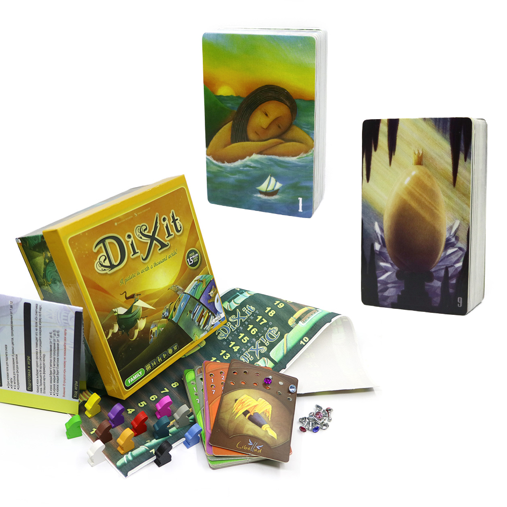 2019 Card Game Dixit 1+9 ( Basic, Harmonies)168 Cards Colorful Box Gifts For Kids Family Party Imaginative Board Games