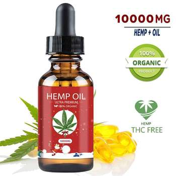 10000mg Organic Hemp Oil Full Spectrum Essential Oil Extract Herbal Drops Natural Hemp Seed Oil Skin Care Body Pain Better Sleep недорого