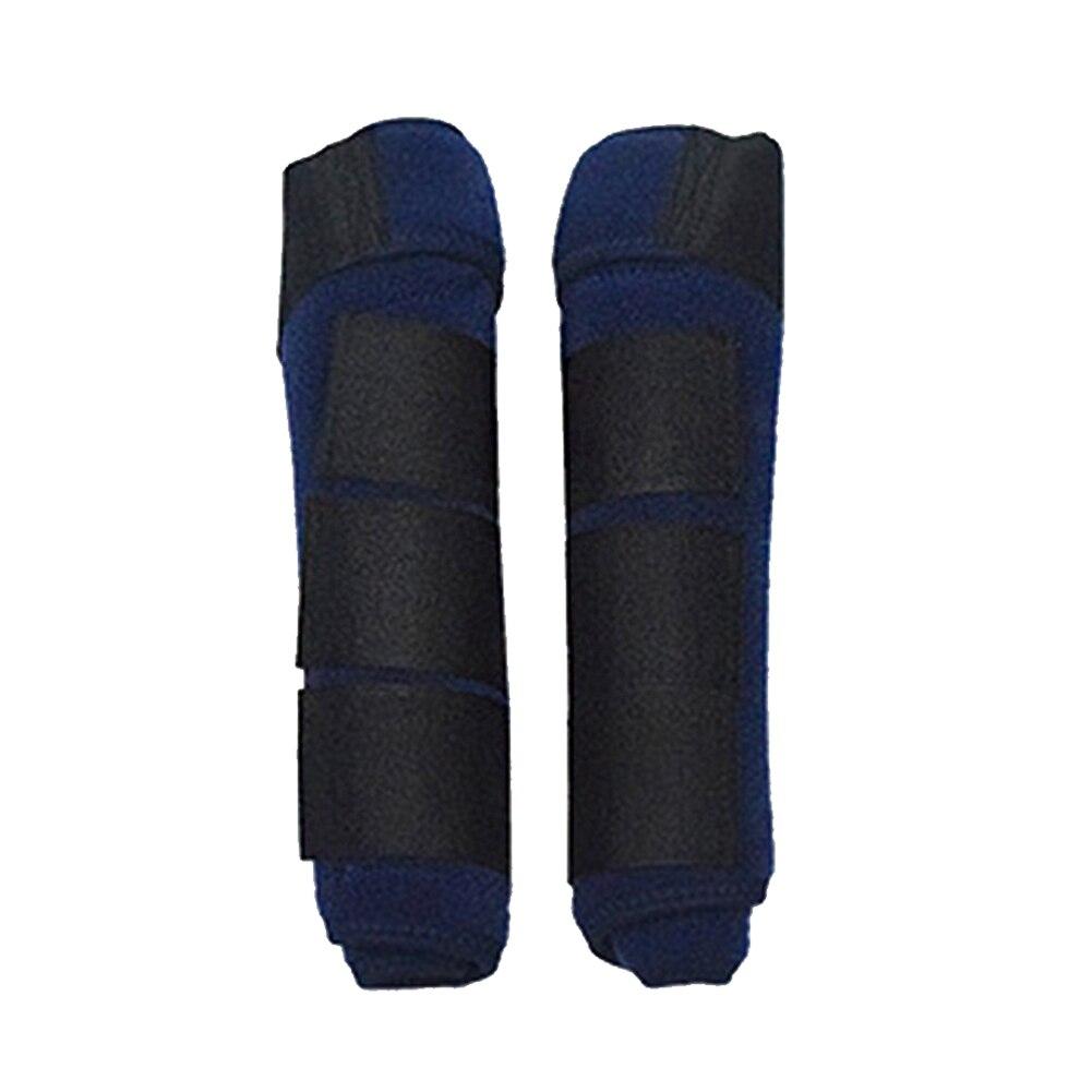 1 Pair Riding Horse Shock Absorbing Training Magic Sticker Leg Guards Protective Gear High Elastic Cloth Adjustable Equestrian