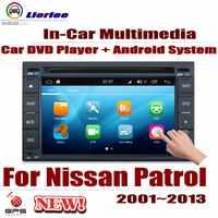 Reproductor de DVD para coche Nissan Patrol Safari (Y61) Pantalla LCD IPS de 2001 ~ 2013, navegación GPS, sistema Android, Radio, Audio y vídeo ESTÉREO