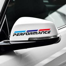 2 pièces M Puissance rétroviseur de voiture autocollant pour BMW 1 3 4 5 7 Série GT X1 X3 X4 X5 X6 F15 F16 F18 F10 F25 F30 F31 F34