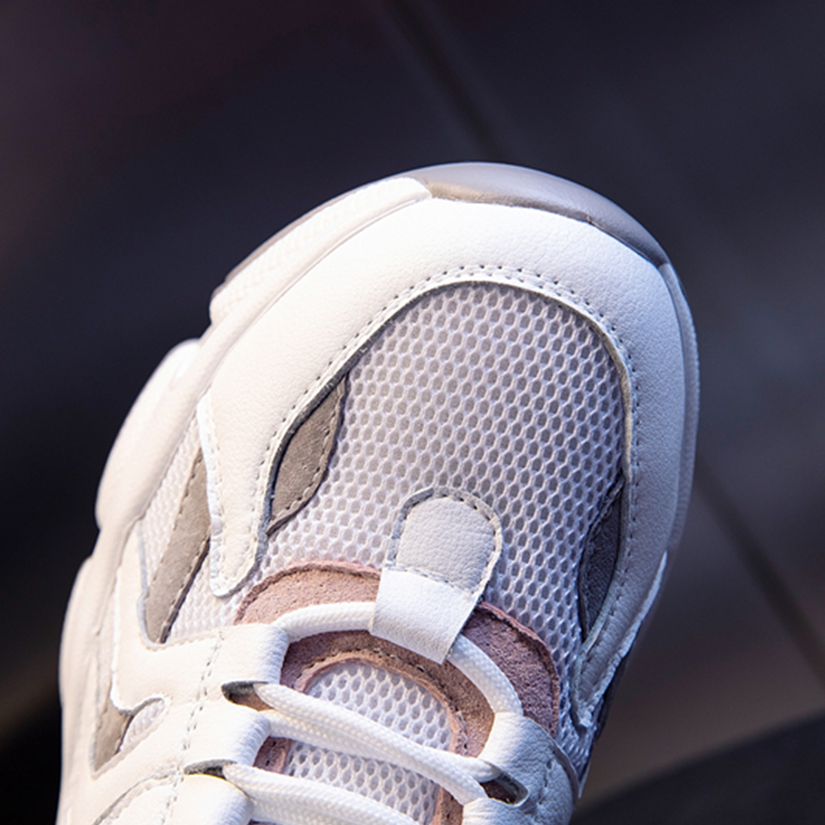 Nouveau Femme Finition Glacée Plateforme coincé Baskets à Lacets 2 Couleurs Taille UK 3-8