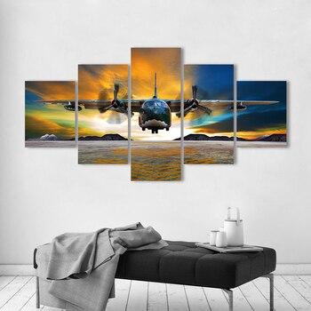 AAVV pared arte pintura lienzo impresión paisaje foto el avión para sala de estar decoración del hogar sin marco
