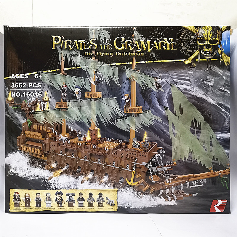 In Stock 3652PCS 16016 The Flying Dutchman Model Building Block Bricks Toys With Lepining City Kids Toys For Children Gift